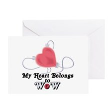 My Heart Belongs to WoW Greeting Card
