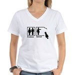 Women's Problem Solved Women's V-Neck T-Shirt