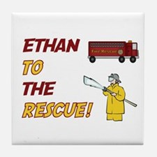Ethan to the Rescue!  Tile Coaster
