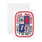 Riverside Paramedic Greeting Card