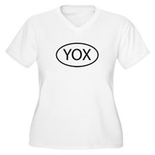 YOX Womes Plus-Size V-Neck T-Shirt