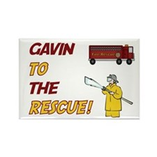 Gavin to the Rescue! Rectangle Magnet