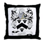 Curtis Coat of Arms Throw Pillow