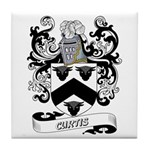 Curtis Coat of Arms Tile Coaster