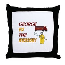 George to the Rescue!  Throw Pillow