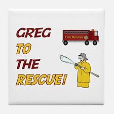 Greg to the Rescue!  Tile Coaster