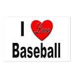I Love Baseball for Baseball Fans Postcards (Packa