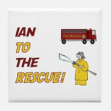 Ian to the Rescue!  Tile Coaster