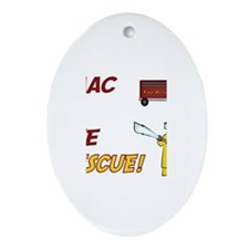 Isaac to the Rescue!  Oval Ornament