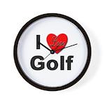 I Love Golf for Golfers Wall Clock