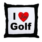 I Love Golf for Golfers Throw Pillow