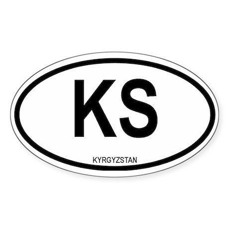 Kyrgystan Oval Sticker
