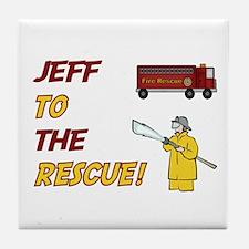 Jeff to the Rescue!  Tile Coaster