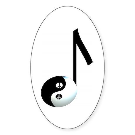 Yin Yang Oval Sticker