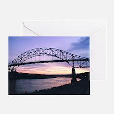 Sagamore Bridge Sunset Greeting Card