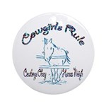 Cowgirl's Rule Cowboy's Obey Keepsake (Round)