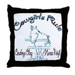 Cowgirl's Rule Cowboy's Obey Throw Pillow