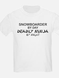 Snowboarder Deadaly Ninja T-Shirt