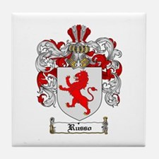 Russo Coat of Arms Tile Coaster