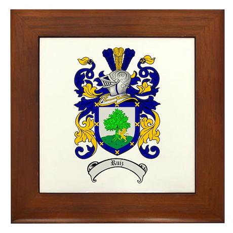 Ruiz Coat of Arms Framed Tile