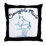 Cowgirl's Rule Throw Pillow