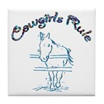 Cowgirl's Rule Tile Coaster