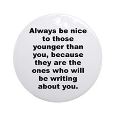 Cyril connolly quote Ornament (Round)