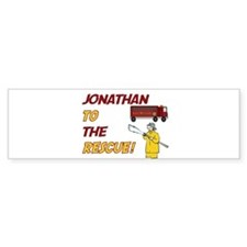 Jonathan to the Rescue! Bumper Bumper Sticker