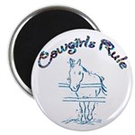 Cowgirl's Rule Magnet
