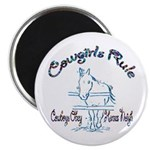 Cowgirl's Rule Cowboy's Obey Magnet