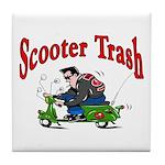 Scooter Trash Tile Coaster