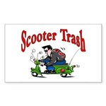 Scooter Trash Rectangle Sticker