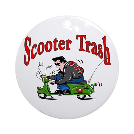 Scooter Trash Ornament (Round)