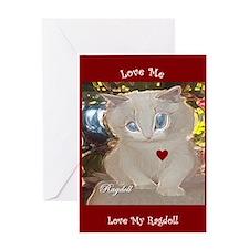 ragdoll Greeting Card
