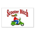Scooter Bitch Rectangle Sticker