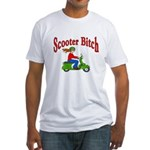 Scooter Bitch Fitted T-Shirt