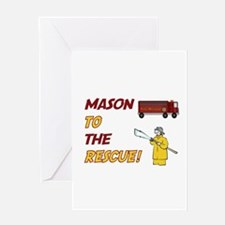 Mason to the Rescue! Greeting Card