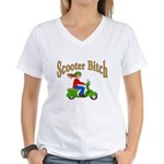Scooter Bitch Women's V-Neck T-Shirt