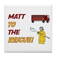 Matt to the Rescue!  Tile Coaster