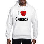 I Love Canada (Front) Hooded Sweatshirt