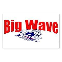 Big Waves Rectangle Decal