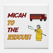 Micah to the Rescue!  Tile Coaster