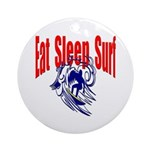 Eat Sleep Surf Keepsake (Round)