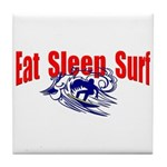 Eat Sleep Surf Tile Coaster