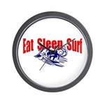 Eat Sleep Surf Wall Clock