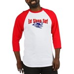Eat Sleep Surf Baseball Jersey