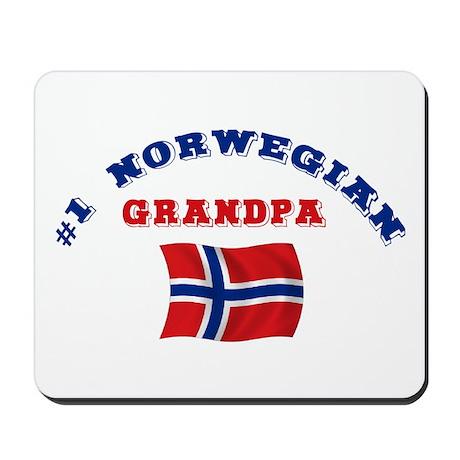 #1 Norwegian Grandpa Mousepad