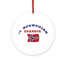 #1 Norwegian Grandpa Ornament