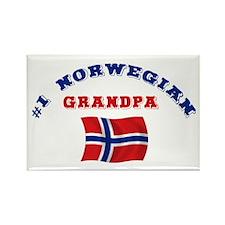 #1 Norwegian Grandpa Rectangle Magnet
