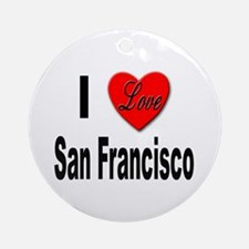 I Love San Francisco Keepsake (Round)